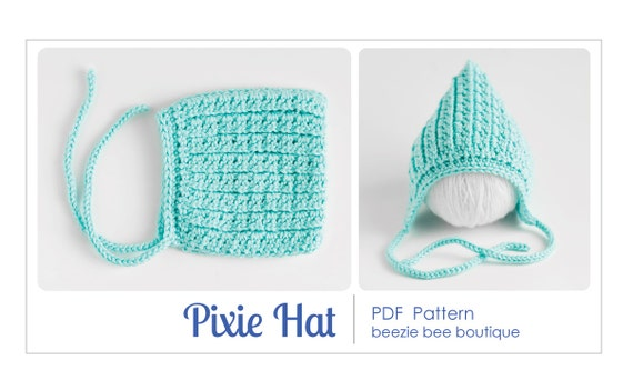Crochet Pattern Baby Pixie Hat : Items similar to PDF Pattern for Crochet Pixie Hat ...