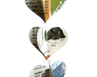 Geology - Heart Garland - Handmade Decoration - Great Geek Gift - Science Classroom Decoration