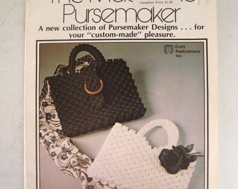Macrame Patterns Purse Instruction Book - Knotted Purses Pocketbooks