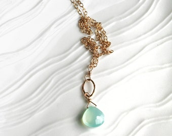 Seafoam Necklace, Bridesmaid Necklace, Pastel Jewelry