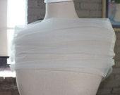 Bridal Wrap, Wedding Cover Up, Wedding Shrug, Bridal Bolero in Tulle White or Ivory