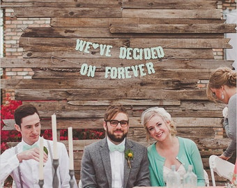 Engagement Banner - We've Decided On Forever-Vintage Letters