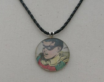 Robin - Up-cycled Comic Book Pendant