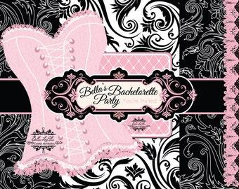 Bachelorette Invitation, Lingerie Shower Invitations, Bachelorette Party, Burlesque Party, Invitations