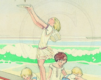 Beach - Day At The Beach, Art for Kids, Baby, Art Print