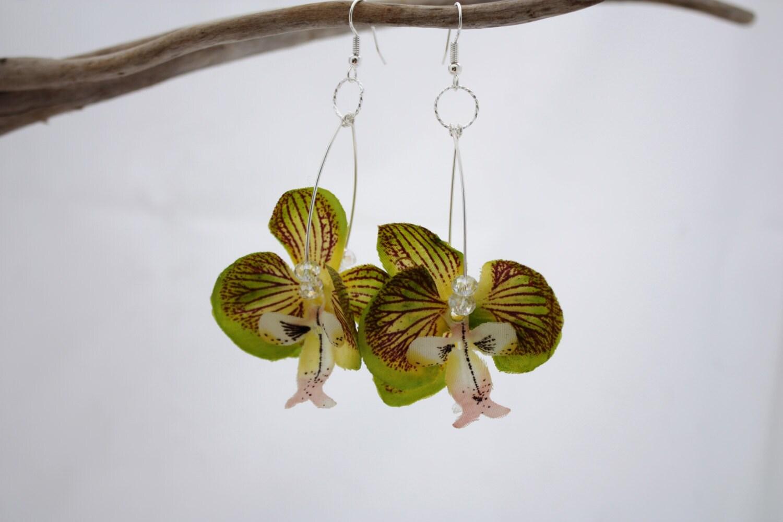 Snap Hawaiian Orchid Earrings Real Flower Jewelry Photos On Pinterest