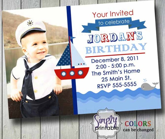 Sailor Birthday Invitation