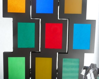 Three Paneled Stained Glass Window Art