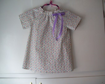 Peasant Dress Mini Floral Print, Toddler Size 2T, Ready to Ship