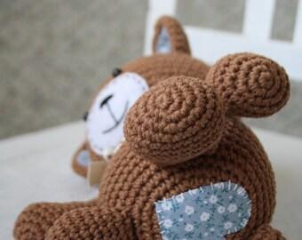PATTERN - Smugly-bear - crochet pattern, amigurumi pattern, pdf