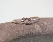 LOve Knot Ring - Sterling Silver - Minimal design - ArtAffectionsJewelry