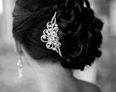 Wedding Hair Comb, Vintage Inspired Swarovski Crystal and Pearl Bridal Hair Comb, Rhinestone Bridal Tiara, Wedding Hair Accessories, AUDREY