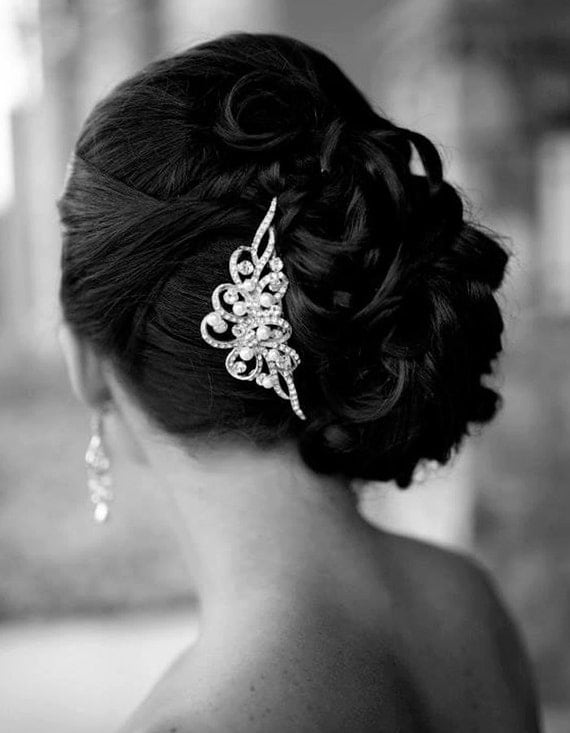 vintage style hair comb wedding hair comb vintage inspired swarovski and 4392 | il 570xN.461090832 dhko