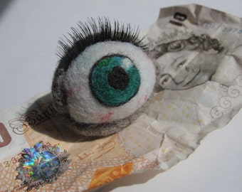 Needle Felted Eye Ball MADE TO ORDER select iris colour