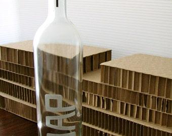 Repurposed Wine Bottle - engraved SOAP dispenser (1)