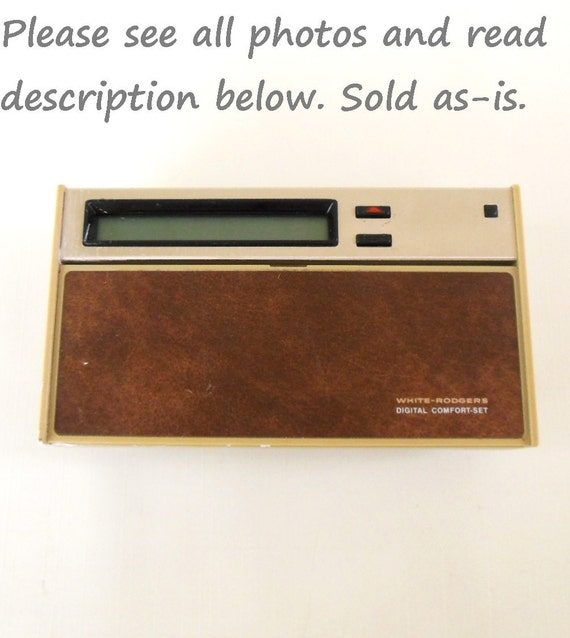 Digital Programmable Thermostat 1970s 1980s Architectural