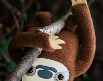 Sloth stuffed animal, Sloth plush handmade soft toy doll, Cute sloth stuffy, Kawaii sloth gift, Boy girl wildlife room decor, Flat Bonnie