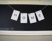 Vintage Letter Banner HOME