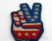 Vintage Stars & Stripes Peace Sign Patch