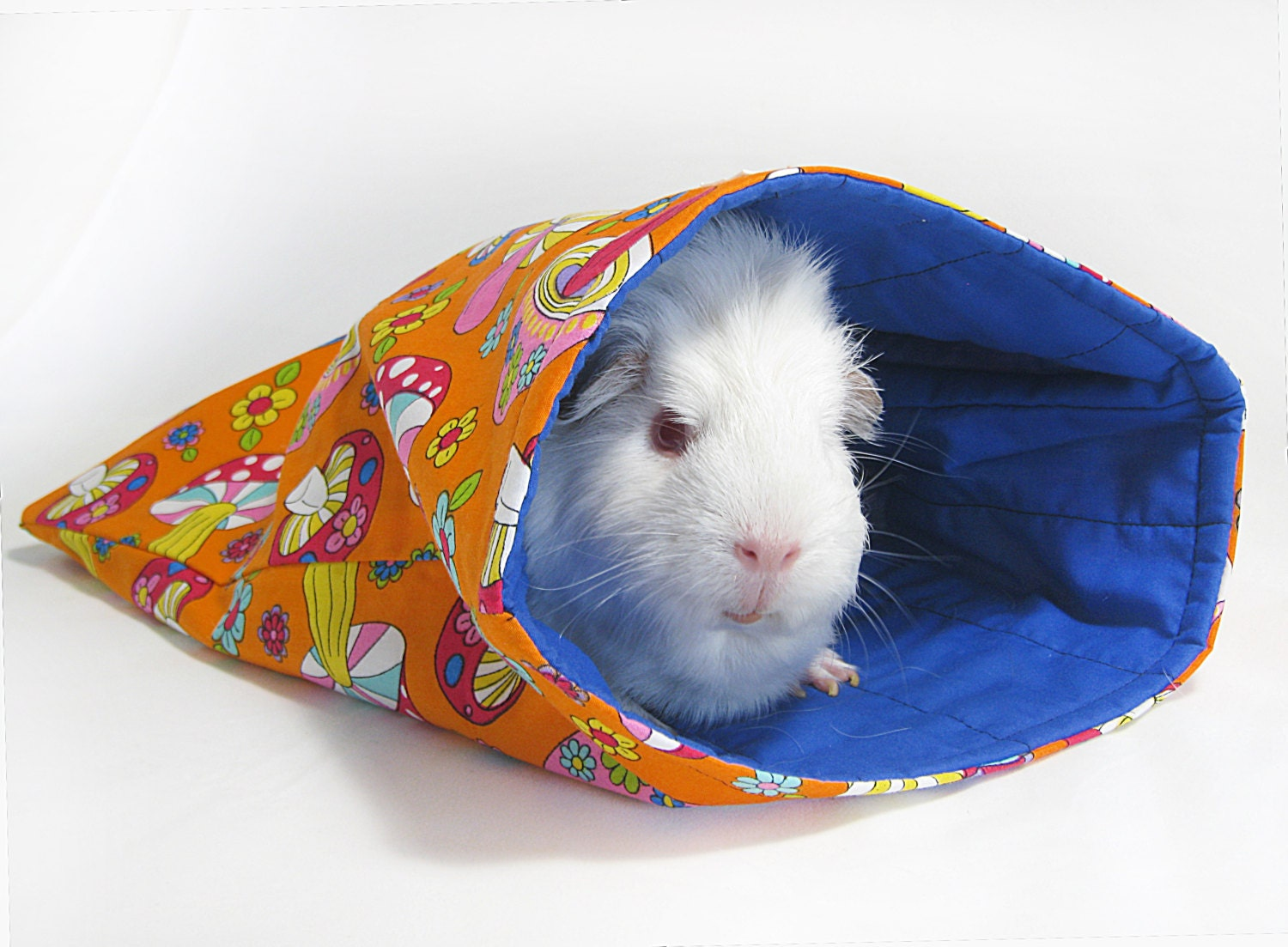 Summer Guinea Pig Sleep-out Bags Mushroom fields by Studio4Paws