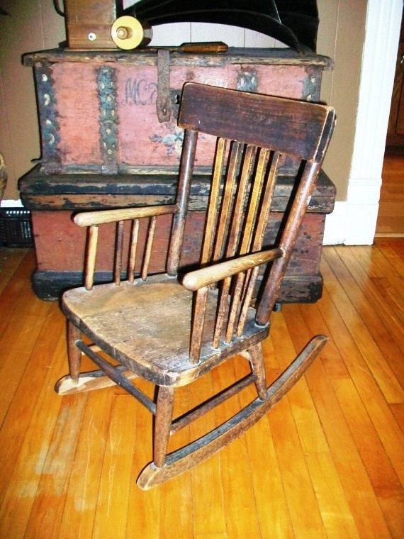 Vintage Child 39 S Rocking Chair Wooden Country By