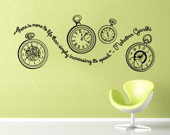 Gandhi quote- pocket watches decal with quote about time from Gandhi