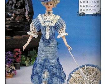 The Edwardian Lady Collection Miss May Promenade Costume Fashion Doll  Crochet Pattern  Annies Attic 7905