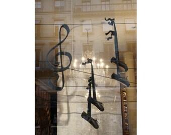 Ballet art Paris photography ballet pointe shoes Paris decor parisian street France black pointes ballet shoes ooak 4x6 5x7 6x8 8x10 10x15
