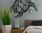 Sea Turtle - uBer Decals Wall Decal Vinyl Decor Art Sticker Removable Mural Modern A282