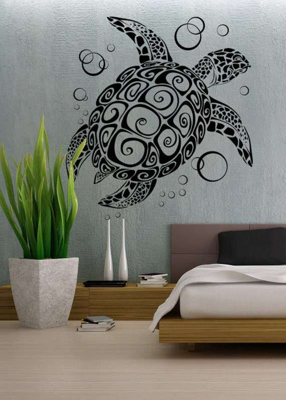 Sea Turtle UBer Decals Wall Decal Vinyl Decor Art Sticker - Wall decals art