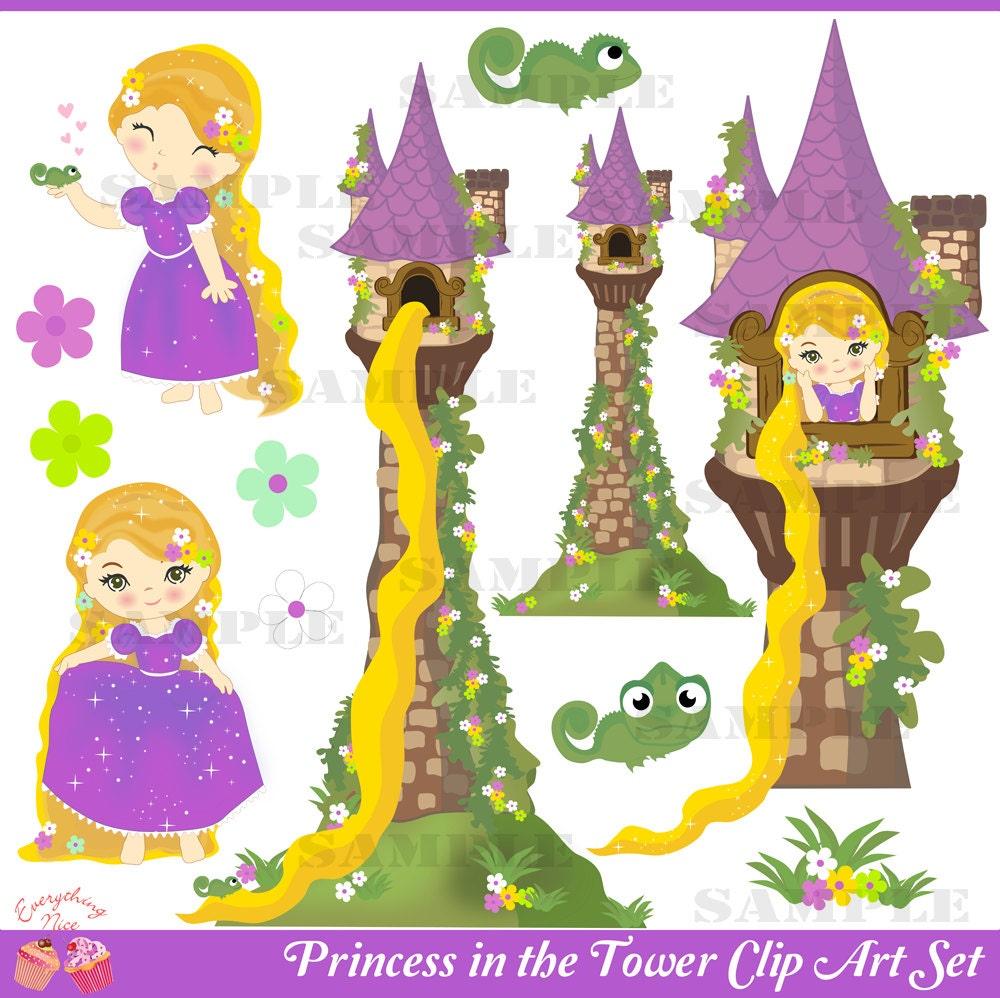 Rapunzel Tower Clip Art Princess in the tower clip art set by ...: galleryhip.com/rapunzel-tower-clip-art.html