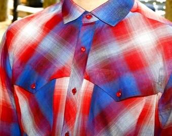 Gauzy Plaid Shirt QUEBEC