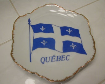 Vintage Commemorative Quebec Flag Plate
