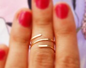 Knuckle ring, 14k gold knuckle ring, silver ring modern minimalist jewelry everyday, stackable gold rings, thin silver or gold filled ring