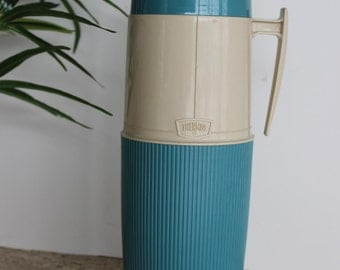 Vintage Thermos Brand, Quart Thermal Container, Turquoise