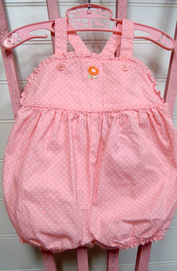 Vintage Baby Clothes Baby Girl Romper