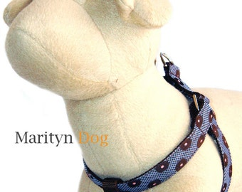 Blue boy dog harness Step in dog harness for small dogs to large dogs Cute girl dog harness Matching dog collar and dog leash are aveilable