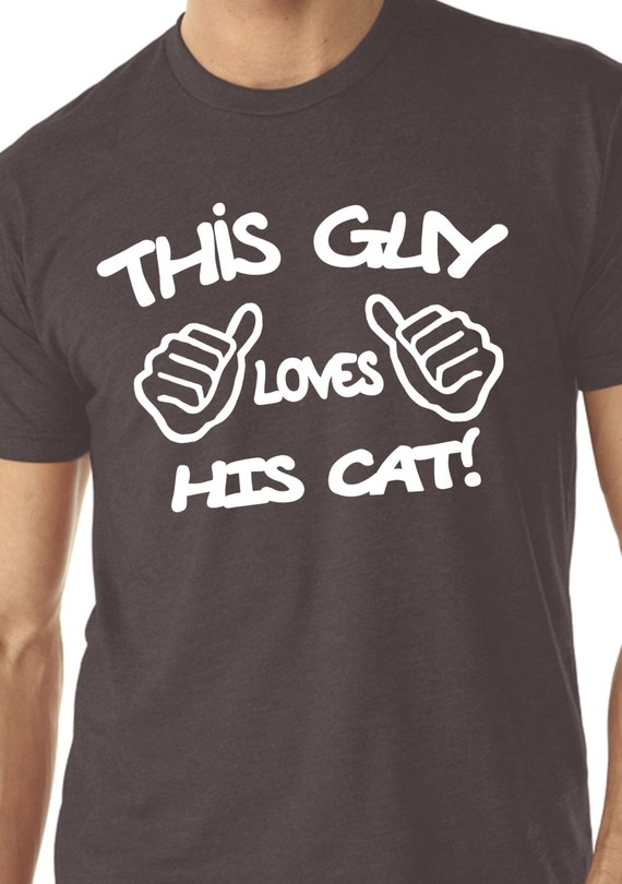This Guy Loves His Cats T-Shirt