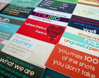 Inspirational Quotes (Set A) - Set of 24 mini card designs