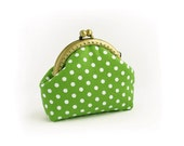 Green Purse Polka Dots, Made to order