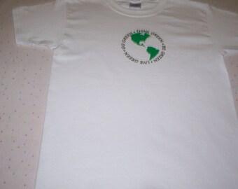 Earth Day Shirt  Earth Day Tshirt  Earth Day Clothing Childrens Clothing  Go Green  Shirt kids clothing Save the World Shirt