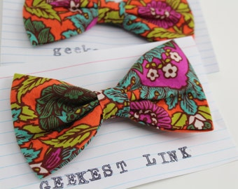 Thistle Print Bow Tie Vintage Style Gift for Him