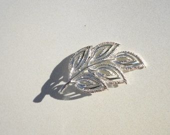 Vintage pin Leaves on branch brooch Signed Gerry 1960s