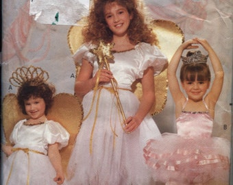 Butterick 4197, a Girl's Ballerina, Fairy princess and Angel with Wings, Costume Pattern Sizes 4 to 14