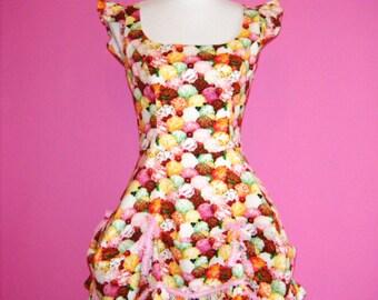 SALE Knickerbockerglory Ice Cream Sweet Lolita Bustle Dress UK 10