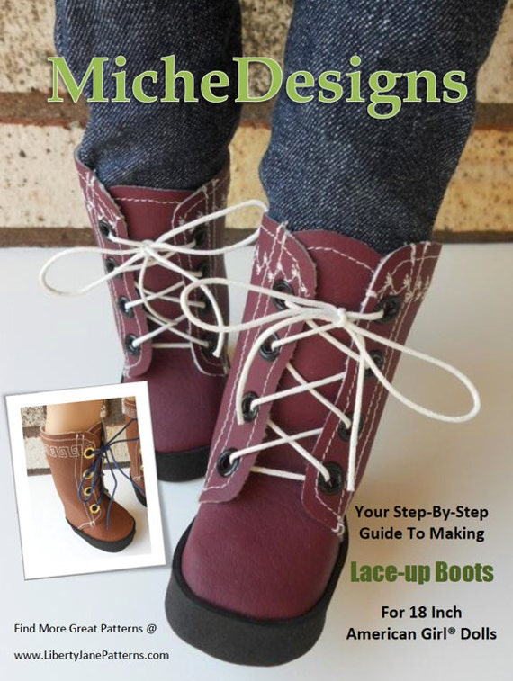 Lace Up Boots Sewing Pattern for American Girl Dolls