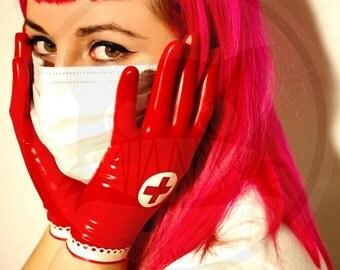 Nurse latex Gloves