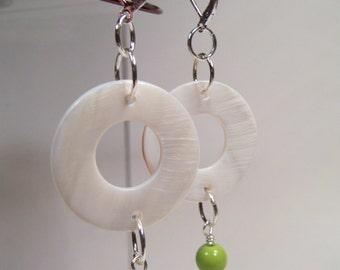 Springtime Mother-Of-Pearl Drop Earrings