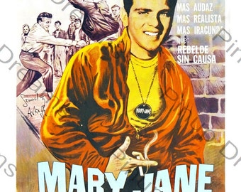 Vintage Rock n Roll Wall art Poster Print Mary Jane re-print Various Sizes