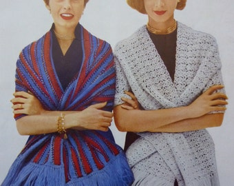Vintage pattern for Stoles and Shawls: Hairpin Lace, Knit, Crochet